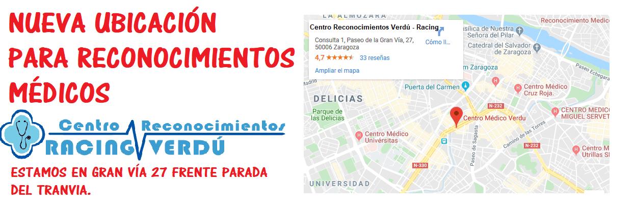 Reconocimientos médicos para carnet de conducir en Zaragoza