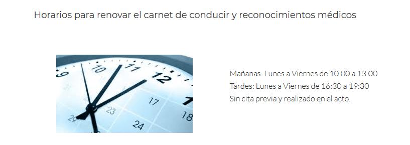 Horarios reconocimientos médicos en Zaragoza